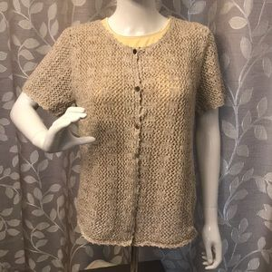 Christopher & Banks Knitted Beige Sweater